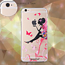 dpt® Butterfly Girl logo TPU Soft Back Cover for iPhone 6/6S