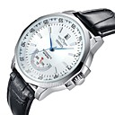 Buy WINNER® Men's Automatic Mechanical Water Proof Date Black Leather Band Wrist Watch Cool Unique Fashion