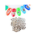 Buy 1440pcs/pack SS4 White Colors DIY Crystal Glass Designs Nail Art Rhinestones 3d Decoration Diamond NC238