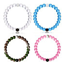 Classic Bracelets Wildlife Bead Mud from Dead Sea & Water (Four Colors,S/M/L/XL Size)
