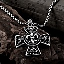 Anchor Cross Restoring Ancient Ways is Exaggerated Men Titanium Steel Pendant Necklace