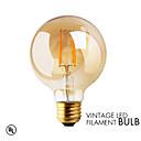 1 pcs GMY E27 2W 2 COB ≥180 lm Warm White G80 edison Vintage LED Filament Bulbs AC 220-240 V 2200K