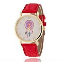 Buy Women's Fashion Watch Quartz PU Band Sparkle Flower Black White Red Green Purple Yellow Brand