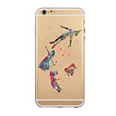 Coloured Drawing or Pattern TPU Transparent Soft Shell Phone Case Back Cover Case for iPhone6/6S