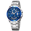 Men's Japanese Quartz Silver Steel Band Water Resistant Calendar Dress Watch Jewelry