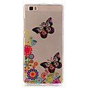 Buy Huawei Case / P9 Lite P8 Transparent Back Cover Butterfly Soft TPU HuaweiHuawei