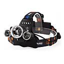 Stirnlampen / Kopfband für Taschenlampen LED 4.0 Modus 6000 Lumen Wasserdicht / Wiederaufladbar / Nachtsicht Cree XM-L T6 18650Camping /