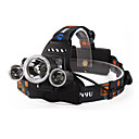Hodelykter / Lykte stropper LED 4.0 Modus 6000 Lumens Vandtæt / Oppladbar / Night Vision Cree XM-L T6 18650Camping/Vandring/Grotte