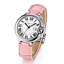 Buy WEIQIN ® 50m Waterproof Silver Case Genuine Leather Strap Watches Women Lady Fashion Dress Wrist Watch Hours Clock Cool Unique