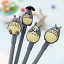 Totoro Design schwarzer Tinte Gelschreiber (1 Stk Zufallsmuster)