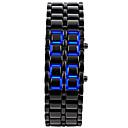 Buy Unisex Men's Watch Blue LED Lava Style Faceless Black Steel Band Wrist Cool Unique Fashion