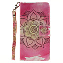 Buy Painted Pink Flowers Pattern Card Can Lanyard PU Phone Case Huawei P9 Lite P8