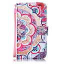 Buy Half Flower Painted PU Leather Material Card Holder Phone Case iPhone 7 7plus 6S 6plus SE 5S