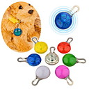 Buy Cat / Dog LED Safety Tag Clip-On Night Light Pet Collar Solid Red White Green Blue Pink Yellow Orange Plastic