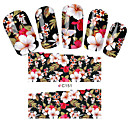 Buy Fashion Flowers Nail Stickers Art Tips Full Cover Wraps Water Transfer Decals Decoration Tools