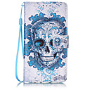 Buy Skull Pattern PU Leather Lanyard phone Case HuaWei P9 lite
