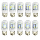 Buy 4W Clear Cover E27 LED Lamp 220V/110V AC 12V/24V AC/DC 27 SMD 5730 280Lm Warm / Cool White (10 Pieces)