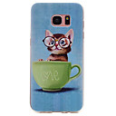 Buy Samsung Galaxy S7 edge S6 Cat Pattern TPU High Purity Translucent Soft Phone Case S5 S4 S3
