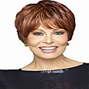 Buy Short Wavy Hair Brown Red Mixed Color Synthetic Wigs Women