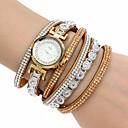 Buy Women's Fashion Watch Wrist watch Bracelet Quartz Colorful Imitation Diamond PU Band Bohemian Charm Bangle CasualBlack White Blue