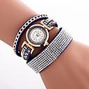 Buy Women's Fashion Watch Wrist watch Bracelet Quartz Colorful Imitation Diamond PU Band Vintage Sparkle Bohemian Charm Cool Casual
