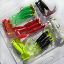 Buy 2Soft Bait Fishing Lures Worms Grub g/Ounce mm inch,Soft Plastic Sea Freshwater