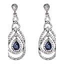 Buy Earring Sapphire Earrings Set Jewelry Women Wedding / Party Daily Crystal 1 pair Royal Blue Regency