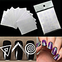 Buy 1Nails Sticker Stencil Tips Guide French Swirls Manicure Nail Art Decals Form Fringe DIY Sencil 3D Styling Beauty Tools
