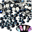 Buy 400-500pcs/bag New SS3-SS16 Mixed Size Dark-blue Nail Glitter Rhinestone Art Sparkling Shiny Beauty Decoration