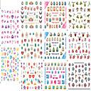 Buy 11design Nail Art Sticker Colorful&Beautifu Image Charming Diamond Design 3D Decals Makeup Cosmetic Tips E512-522