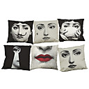 Buy Set 6 Lina Cavalieri Linen Pillow Case Bedroom Euro Covers 18x18 inches Cushion cover