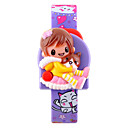 Buy Kids' Fashion Watch Digital Wrist watch LCD Calendar Rubber Band Cartoon Pink Purple