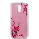 Buy Moto G4 Plus Double IMD Case Back Cover Diagonal plum flower pattern Soft TPU