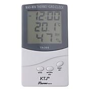 LCD digital al aire libre / temperatura interior termómetro higrómetro con reloj ta368