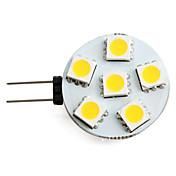 1.5w g4 led proyector 6 smd 5050 150 lm blanco caliente dc 12 v