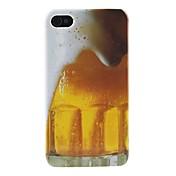 아이폰4/4S용 맥주거품 무늬 하드케이스