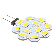 G4 6W 12x5630 SMD 500-560LM 3000-3500K bianco caldo Lampadina Lotus a forma di punto del LED (12V)