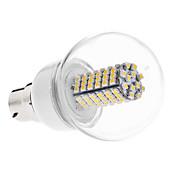 b22 6w 120x3528 SMD 480-500lm 3000-3500k ciepłe białe światło żarówka LED bramki (ac 110-130/ac 220-240 v)