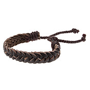 Ponytail Handmade Leather Bracelet With coffee