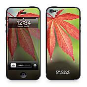 """다 코드 ™ 아이폰 5/5S를위한 피부 : """"메이플 리프""""(식물 시리즈)"""