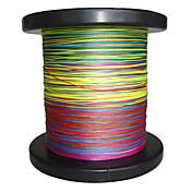 500M / 550 야드 PE 꼰 선 / Dyneema 낚시줄 그린 / 오렌지 / 옐로우 / 퍼플 / 퓨샤 / 레드 / 블루 / 다양한 색상8 파운드 / 10LB / 20LB / 25LB / 30LB / 35LB / 40LB / 50LB /