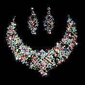 Conjunto de joyas De mujeres Cumpleaños / Regalo / Fiesta / Ocasión especial Sets de Joya Aleación Diamantes Sintéticos / Zirconia Cúbica