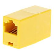 RJ45 hembra a hembra adaptador amarillo