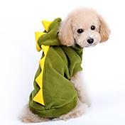 개 코스츔 / 후드 레드 / 그린 강아지 의류 겨울 / 모든계절/가을 만화 귀여운 / 코스프레