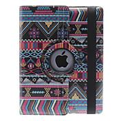Kansallinen tyyli upea malli 360 astetta kääntyvä PU Leather Full Body Case jalusta iPad 2/3/4