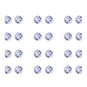 스터드 귀걸이 클래식 고급 보석 모조 다이아몬드 합금 화이트 무지개 보석류 용 파티 일상 24PCS