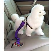 개 강아지용 자동차 시트 하네스 /강아지 안전 하네스 조절 가능/리트랙터블 / 안전 솔리드 레드 / 블랙 / 블루 / 핑크 / 퍼플 나일론