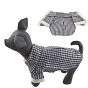 고양이 개 티셔츠 블랙 강아지 의류 여름 모든계절/가을 격자 무늬 / 체크 캐쥬얼/데일리