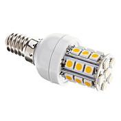 3W E14 LED 콘 조명 T 27 SMD 5050 350 lm 따뜻한 화이트 밝기 조절 AC 220-240 V