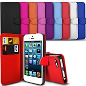 PinkQueen® Elegant PU Leather Case for iPhone 4/4S (Assorted Colors)